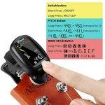 Accordeur de Guitare Electrique Uktunu A3-CS Tuner 360 Degrés Rotation Digital Ecran en Couleur LCD Violon Ukulélé Guitare Classique Folk Mandoline Banjo Chromatique à Pince Debutant Mélomane de la marque Uktunu image 2 produit