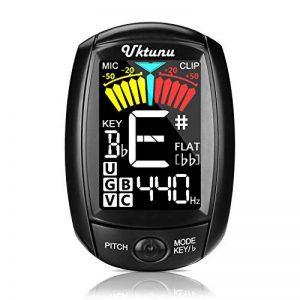 Accordeur de Guitare Electrique Uktunu A3-CS Tuner 360 Degrés Rotation Digital Ecran en Couleur LCD Violon Ukulélé Guitare Classique Folk Mandoline Banjo Chromatique à Pince Debutant Mélomane de la marque Uktunu image 0 produit