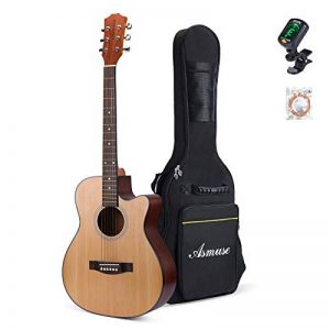 Asmuse Pack Guitare Classique en Bois avec Kit d'Accessoires, Instrument Musical Naturel Acoustique pour l'Apprentissage des Débutants de la marque Asmuse image 0 produit