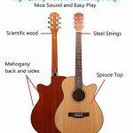 Asmuse Pack Guitare Classique en Bois avec Kit d'Accessoires, Instrument Musical Naturel Acoustique pour l'Apprentissage des Débutants de la marque Asmuse image 2 produit