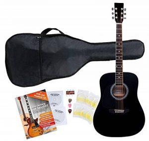 Classic Cantabile guitare acoustique folk gaucher set démarrage, kit d'accessoires à 5 pièces, noir de la marque Classic Cantabile image 0 produit