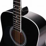 Classic Cantabile guitare acoustique folk gaucher set démarrage, kit d'accessoires à 5 pièces, noir de la marque Classic Cantabile image 3 produit