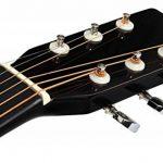Classic Cantabile guitare acoustique folk gaucher set démarrage, kit d'accessoires à 5 pièces, noir de la marque Classic Cantabile image 4 produit