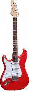 Guitare Electrique Strato pour Gaucher 3 Coloris ~ Avec Vibrato Et Câble (Rouge) de la marque Vision image 0 produit