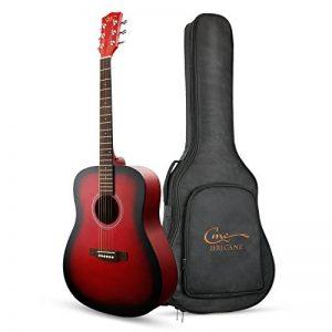 Hricane Guitare Acoustique Guitare 41 Pouces Taille réelle Guitare, GU-3 Dreadnought Épicéa Câble d'acier Guitare Acoustique avec Gros Guitare Sac à dos [Dreadnought] de la marque Hricane image 0 produit