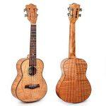 Kmise - Kit de ukulélé pour débutant - Ukulélé de 59cm à tête de guitare classique - Pour les amateurs de musique et les débutants 23 Solid Tiger Flame Okume de la marque Kmise image 1 produit