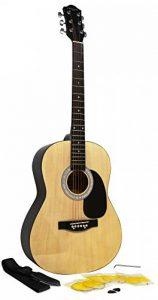 Martin Smith W-100 Pack Guitare acoustique avec sangle, médiators et cordes - Naturel de la marque Martin Smith image 0 produit