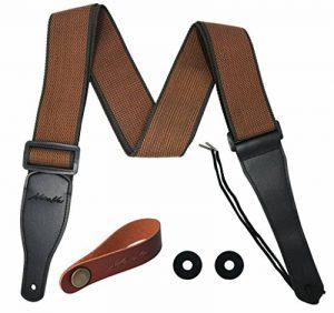 MOREYES Sangle de guitare pour guitare acoustique, guitare classique (couleur café) de la marque MOREYES image 0 produit