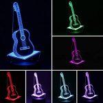 Nuür 3d Illusion d'optique lumière de nuit–7lampe LED à changement de couleur avec télécommande, guitare, Guitar de la marque image 1 produit