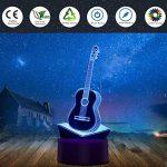 Nuür 3d Illusion d'optique lumière de nuit–7lampe LED à changement de couleur avec télécommande, guitare, Guitar de la marque image 2 produit