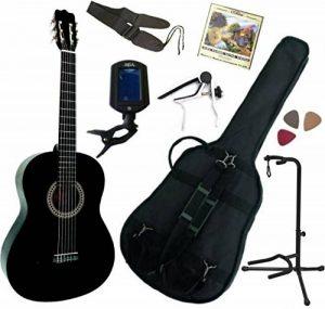 Pack Guitare Classique 4/4 (Adulte) Avec 7 Accessoires (noire) de la marque MSA image 0 produit