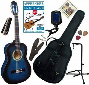 Navarra NV16 Guitare classique 1//2 Taille Noir avec housse l/ég/èrement rembourr/é//2 pi/èce m/édiator