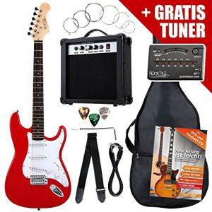 Rocktile ST Pack guitare électrique rouge en SET incl ampli, housse, accordeur, câble, sangle de la marque Rocktile image 0 produit