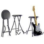 Stagg GIST-300 Tabouret de Guitare + Support pliable Noir de la marque Stagg image 1 produit