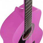 'Stretton Payne' Guitare GAUCHERS Acoustique Classique 3/4 Pack - Rose - Avec Housse et Accordeur électronique et Mediator et Cours de guitare en ligne de la marque Stretton Payne image 4 produit