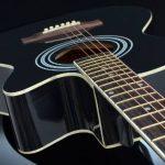 TS-ideen Guitare folk 4/4 acoustique avec étui rembourré, sangle, cordes de rechange et diapason à bouche (Noir) de la marque ts-ideen image 3 produit