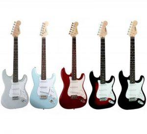 Vision–Guitare électrique Stratocaster (disponible en différentes couleurs, avec vibrato et câble), rouge de la marque Vision image 0 produit